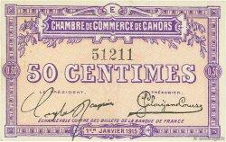50 Centimes FRANCE régionalisme et divers Cahors 1915 JP.035.05 TTB à SUP