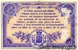 50 Centimes FRANCE régionalisme et divers CAHORS 1915 JP.035.05 TB