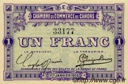 1 Franc FRANCE régionalisme et divers CAHORS 1915 JP.035.07 SPL à NEUF