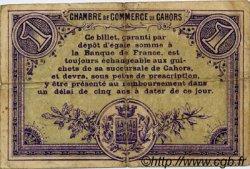 1 Franc FRANCE régionalisme et divers CAHORS 1915 JP.035.07 TB