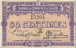 50 Centimes FRANCE régionalisme et divers Cahors 1915 JP.035.09 SPL à NEUF