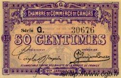 50 Centimes FRANCE régionalisme et divers CAHORS 1915 JP.035.12 SPL à NEUF