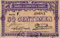 50 Centimes FRANCE régionalisme et divers Cahors 1915 JP.035.12 TTB à SUP