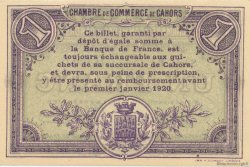 1 Franc FRANCE régionalisme et divers CAHORS 1915 JP.035.14 SPL à NEUF