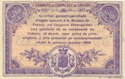 50 Centimes FRANCE régionalisme et divers CAHORS 1915 JP.035.16 SPL à NEUF