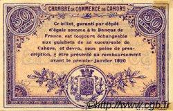 50 Centimes FRANCE régionalisme et divers Cahors 1915 JP.035.16 TTB à SUP