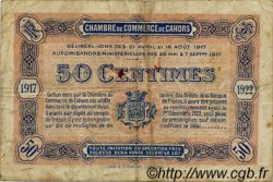 50 Centimes FRANCE régionalisme et divers CAHORS 1917 JP.035.17 TB