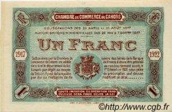1 Franc FRANCE régionalisme et divers CAHORS 1917 JP.035.19 SPL à NEUF