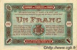 1 Franc FRANCE régionalisme et divers CAHORS 1917 JP.035.19 TTB à SUP