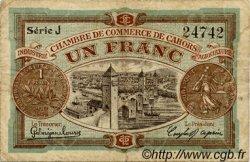 1 Franc FRANCE régionalisme et divers CAHORS 1918 JP.035.22 TB