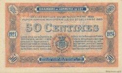 50 Centimes FRANCE régionalisme et divers Cahors 1920 JP.035.25 SPL à NEUF