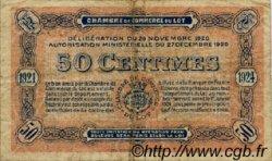 50 Centimes FRANCE régionalisme et divers Cahors 1920 JP.035.25 TB