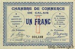 1 Franc FRANCE régionalisme et divers CALAIS 1914 JP.036.03 SPL à NEUF