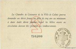 2 Francs FRANCE régionalisme et divers CALAIS 1914 JP.036.05 SPL à NEUF