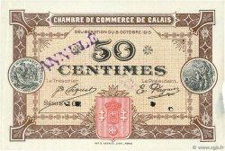 50 Centimes FRANCE régionalisme et divers CALAIS 1915 JP.036.10 TTB à SUP