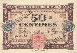 50 Centimes FRANCE régionalisme et divers CALAIS 1915 JP.036.14 SPL à NEUF