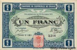 1 Franc FRANCE régionalisme et divers Calais 1915 JP.036.15 TTB à SUP