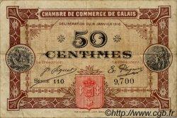 50 Centimes FRANCE régionalisme et divers CALAIS 1916 JP.036.21 TB