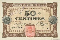 50 Centimes FRANCE régionalisme et divers CALAIS 1916 JP.036.22 SPL à NEUF