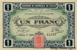 1 Franc FRANCE régionalisme et divers CALAIS 1916 JP.036.25 TTB à SUP
