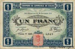 1 Franc FRANCE régionalisme et divers Calais 1916 JP.036.25 TB