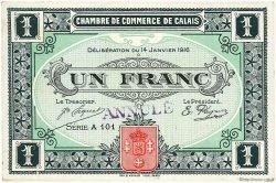 1 Franc FRANCE régionalisme et divers Calais 1916 JP.036.27 TTB à SUP