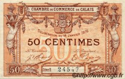 50 Centimes FRANCE régionalisme et divers CALAIS 1916 JP.036.28 TTB à SUP