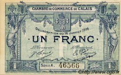 1 Franc FRANCE régionalisme et divers Calais 1916 JP.036.30 TTB à SUP