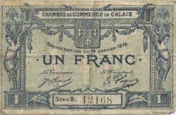 1 Franc FRANCE régionalisme et divers Calais 1916 JP.036.30 TB