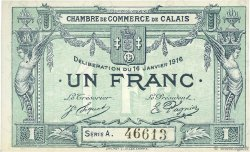 1 Franc FRANCE régionalisme et divers Calais 1916 JP.036.31 TTB à SUP