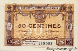 50 Centimes FRANCE régionalisme et divers CALAIS 1918 JP.036.33 SPL à NEUF