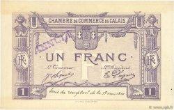 1 Franc FRANCE régionalisme et divers Calais 1918 JP.036.39 TTB à SUP