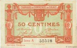 50 Centimes FRANCE régionalisme et divers CALAIS 1918 JP.036.40 TB