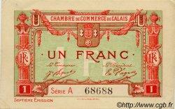 1 Franc FRANCE régionalisme et divers CALAIS 1918 JP.036.41 SPL à NEUF