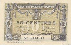 50 Centimes FRANCE régionalisme et divers Calais 1918 JP.036.42 SPL à NEUF