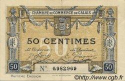50 Centimes FRANCE régionalisme et divers Calais 1918 JP.036.42 TTB à SUP