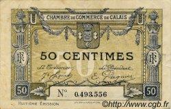 50 Centimes FRANCE régionalisme et divers Calais 1918 JP.036.42 TB