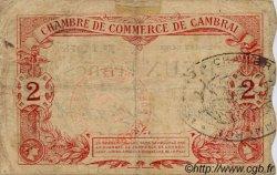 2 Francs FRANCE régionalisme et divers CAMBRAI 1914 JP.037.02 TB