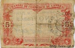 5 Francs FRANCE régionalisme et divers CAMBRAI 1914 JP.037.03 TB