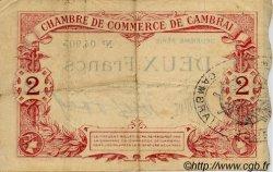 2 Francs FRANCE régionalisme et divers Cambrai 1914 JP.037.13 TTB à SUP
