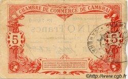 5 Francs FRANCE régionalisme et divers Cambrai 1914 JP.037.24 TTB à SUP