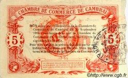 5 Francs FRANCE régionalisme et divers CAMBRAI 1914 JP.037.33 TTB à SUP