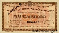 50 Centimes FRANCE régionalisme et divers CARCASSONNE 1914 JP.038.04 SPL à NEUF