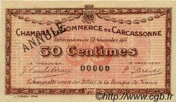 50 Centimes FRANCE régionalisme et divers Carcassonne 1914 JP.038.05 TTB à SUP