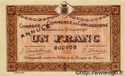 1 Franc FRANCE régionalisme et divers Carcassonne 1914 JP.038.08 SPL à NEUF