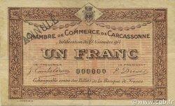 1 Franc FRANCE régionalisme et divers Carcassonne 1914 JP.038.09 TB