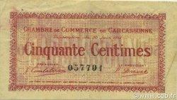 50 Centimes FRANCE régionalisme et divers Carcassonne 1917 JP.038.11 TB