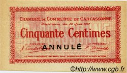 50 Centimes FRANCE régionalisme et divers Carcassonne 1917 JP.038.12 SPL à NEUF