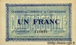 1 Franc FRANCE régionalisme et divers CARCASSONNE 1917 JP.038.13 TTB à SUP