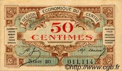 50 Centimes FRANCE régionalisme et divers RÉGION ÉCONOMIQUE DU CENTRE 1918 JP.040.05 TTB à SUP